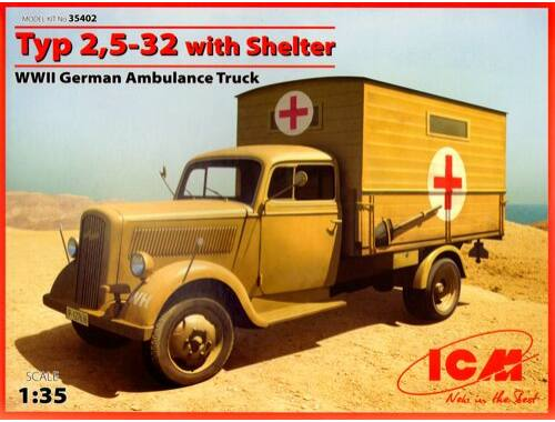 ICM Type 2.5-32 with shelter 1:35 (35402)