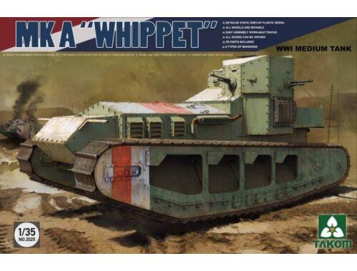 "Takom MK A ""Whippet"" WWI Medium Tank 1/35 (2025)"