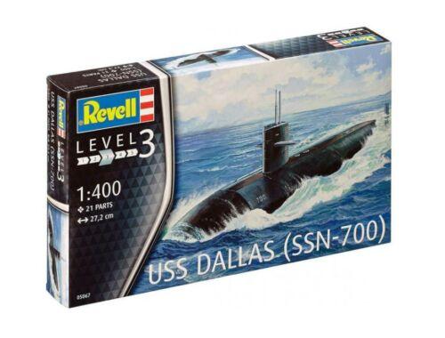 US Navy Submarine USS Dallas 1:400
