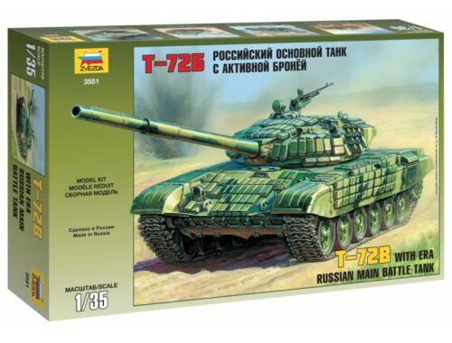 Zvezda T-72B with ERA Russian Main Battle Tank 1:35 (3551)