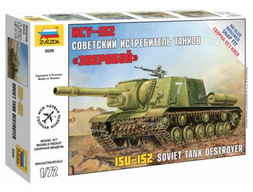 Zvezda Self Propelled Gun ISU-152 1:72 (5026)