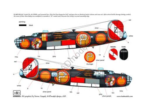 "HADmodels B-24D /H ""Pete the Pom Inspector"" matrica 1:48 (48151)"