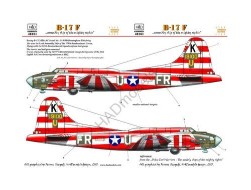 HADmodels B-17E Birmingham Blitzkrieg USAAF matrica 1:48 (48161)