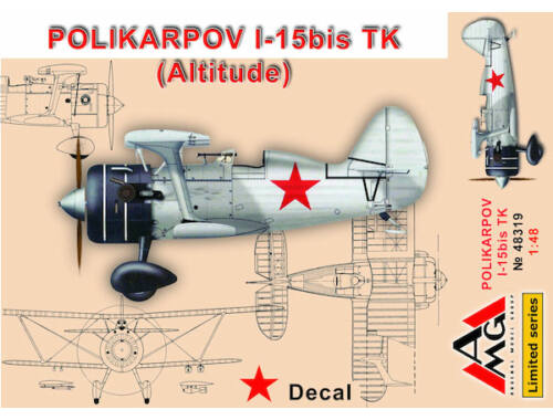 AMG Polikarpov I-15 bis TK (altitude) 1:48 (48319)