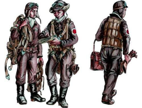 CMK Japanese Army AF Bomber Crew Members, WW II 1:72 (F72289)