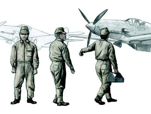 CMK Japanese Army AF Mechanics, WW II (3 fig.) 1:72 (F72290)