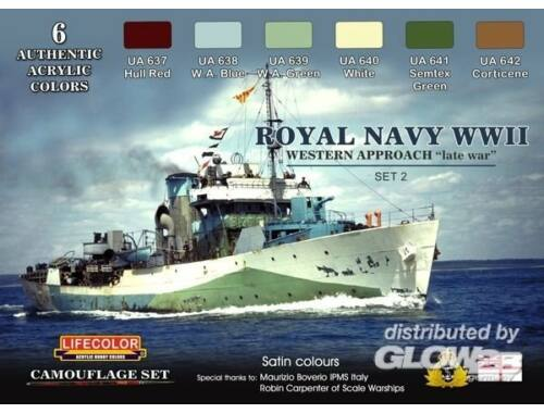 Life Color Royal Navy WWII Western Approach late wa Set 2 Camouflage Set (CS34)
