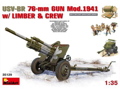 Miniart USV-BR 76-mm Gun Mod.1941 w/Limber   Crew 1:35 (35129)