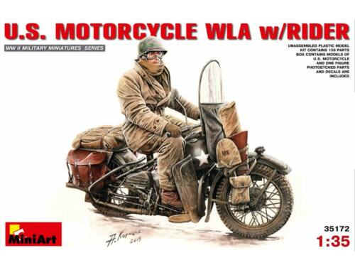Miniart U.S.Motorcycle WLA with Rider 1:35 (35172)
