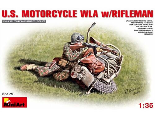 Miniart U.S.Motorcycle WLA with Rifleman 1:35 (35179)