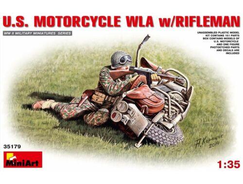 Miniart U.S.Motorcycle WLA with Rifleman 1:35 (35179)