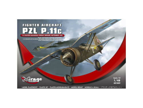 Mirage Hobby Fighter Aircraft PZL P.11c 1:48 (481009)
