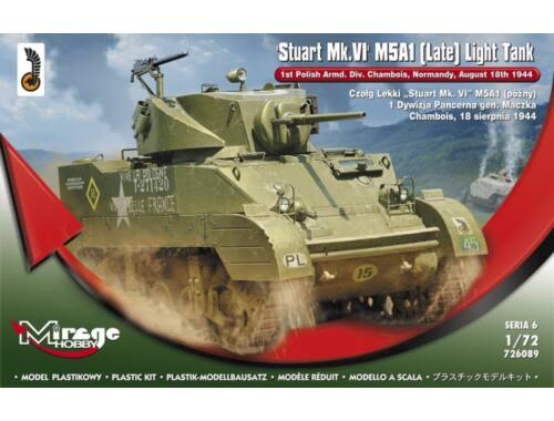 Mirage Hobby Stuart MK.VI M5A1 (Late) Light Tank 1:72 (726089)