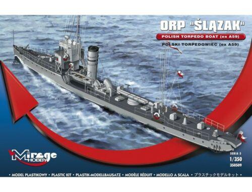 Mirage Hobby ORP Slazak Polish Torpedo Boat (ex A59) 1:350 (350509)