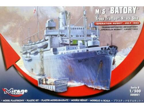 Mirage Hobby M/S Batory Troop Transporter-Attack Ship 1:500 (500801)