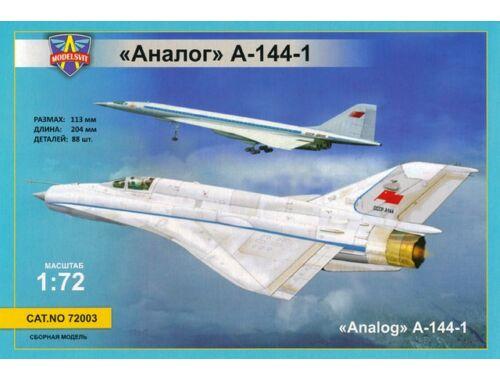 Modelsvit MiG-21i first prototype (Analog A-144-1) 1:72 (72003)