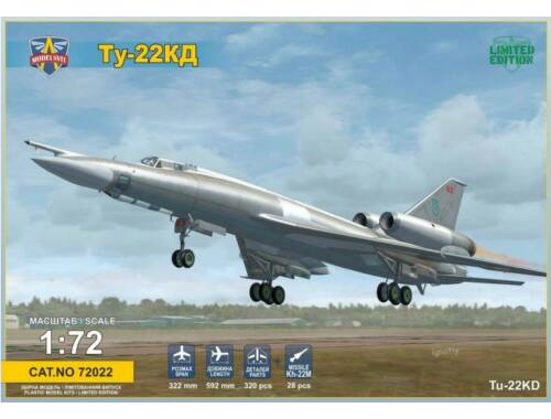 Modelsvit Tupolev Tu-22KD Shilo with Kh-22M missile 1:72 (72022)