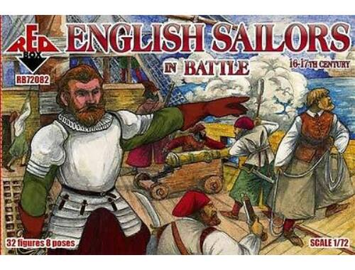 Red Box English sailor in battle,16-17th century 1:72 (72082)