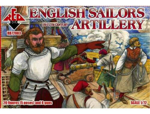Red Box English sailors artillery,16-17th centur 1:72 (72083)