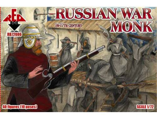 Red Box Russian war monk, 16-17th century 1:72 (72086)