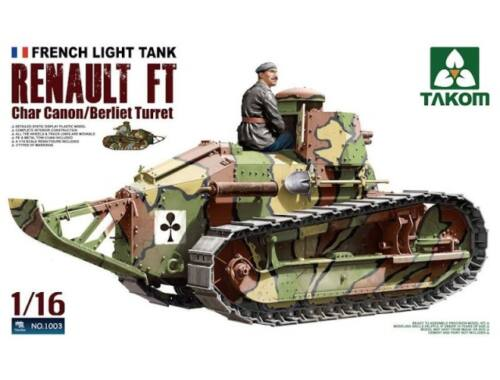 Takom French Heavy Tank RENAULT FT char Canon/ 1:16 (1003)