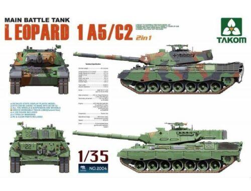 Takom Main Battle Tank Leopartd 1 A5/C2 2 in 1 1:35 (2004)