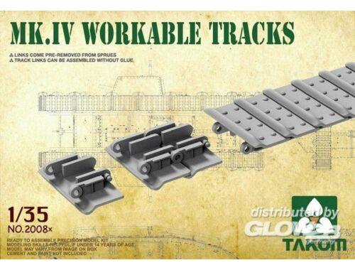 Takom Mk IV Cement Free Workable Tracks 1:35 (2008X)