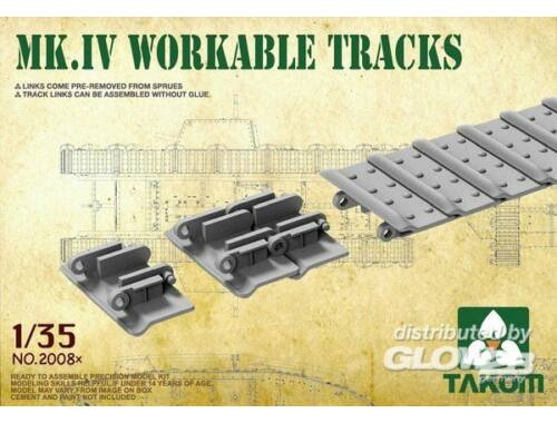 Takom Mk IV Cement Free Workable Tracks 1:35 (2008X)