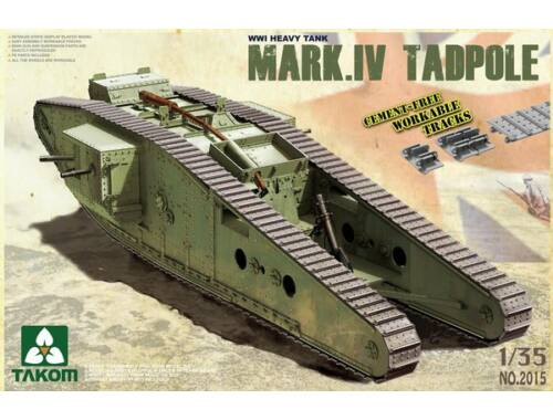 Takom WWI Heavy Battle Tank Mark IV Male Tadpo 1:35 (2015)