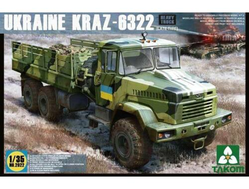 Takom Ukraine KrAz-6322 Heavy Truck (late type 1:35 (2022)