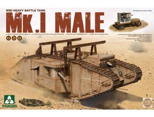 Takom WWI Heavy Battle Tank Mk.I male 2in1 1:35 (2031)