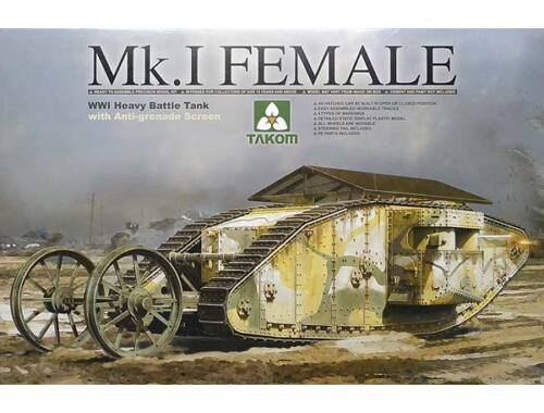 Takom WWI Heavy Battle Tank Mk.I female with anti grenade screen 1:35 (2033)