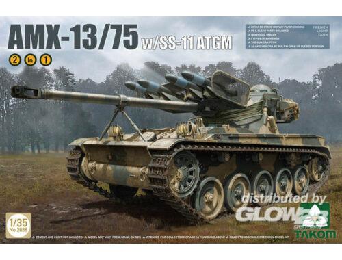 Takom French Light Tank AMX w. SS-11 ATGM 2in1 1:35 (2038)