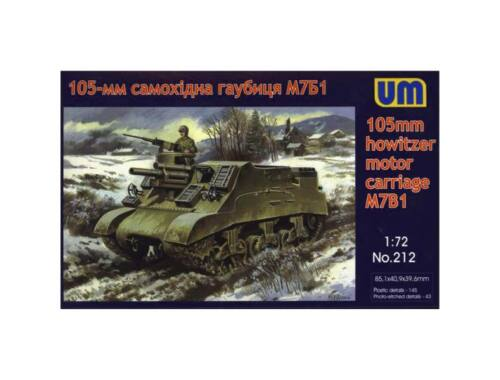 Unimodel M7B1 105mm hotwizer motor carriage 1:72 (212)