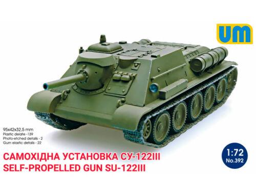 Unimodel Self-propelled artillery gun SU-122III 1:72 (392)
