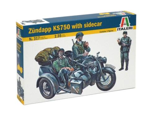 Italeri ZÜNDAPP KS750 with Sidecar 1:35 (0317)