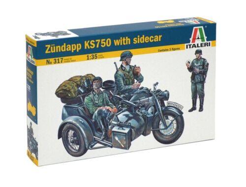 Italeri ZÜNDAPP KS750 with Sidecar 1:35 (0317)
