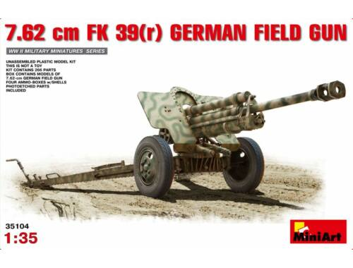 Miniart 7,62cm F.K.39 German Field Gun 1:35 (35104)