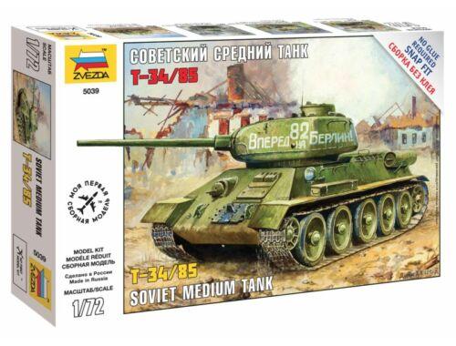 Zvezda T-34/85 Soviet Medium Tank WWII 1:72 (5039)