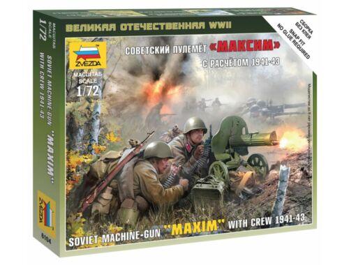 Zvezda Soviet Machine-Gun 'Maxim' with Crew 1941-1943 1:72 (6104)