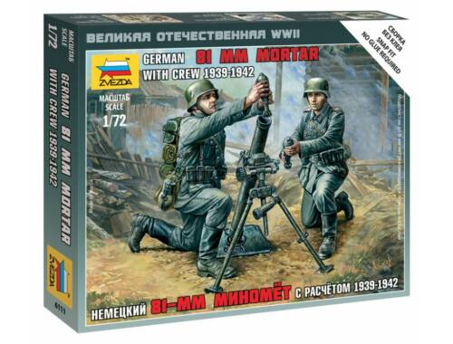 Zvezda German 81 mm Mortar with Crew 1939-1942 1:72 (6111)