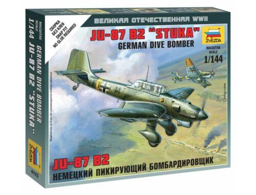 Zvezda German Dive Bomber JU-87 B2 Sluka 1:144 (6123)