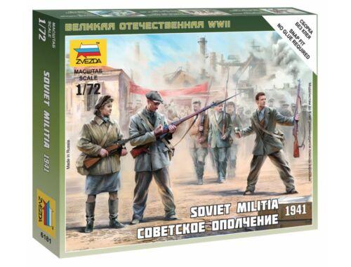 Zvezda Soviet Militia 1941 1:72 (6181)