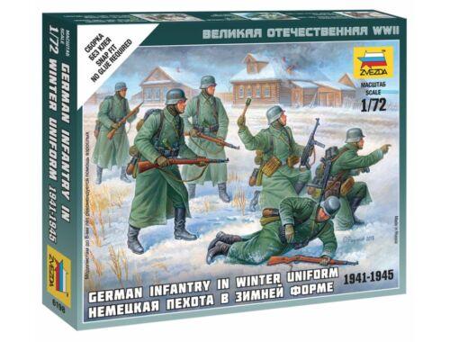 Zvezda German Infantry (Winter Uniform ) 1:72 (6198)
