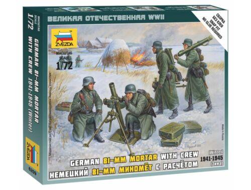 Zvezda German 80 mm Mortar w/Crew 1:72 (6209)
