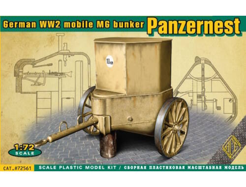 ACE WWII German mobile MG bunker Panzernest 1:72 (72561)