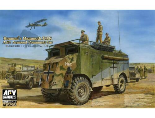 AFV Club AEC Armoured Commander Car of Rommel-Mam Mammoth (DAK) 1:35 (AF35235)