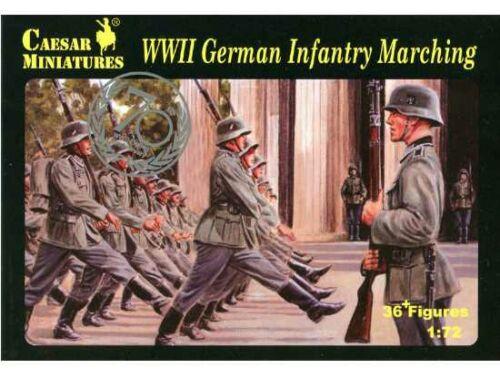 Caesar WWII German Infantry Marching 1:72 (H081)