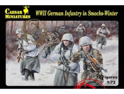 Caesar WWII German Infantry in Smocks-Wi 1:72 (H083)
