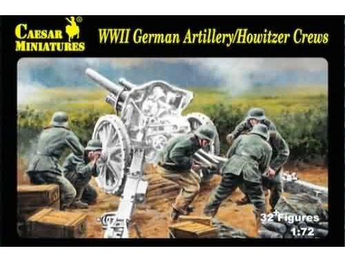 Caesar WWII German Artillery Howitzer Crew 1:72 (H084)